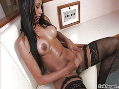 tranny, tgirl, video, gorgeous, transvestite, dick, juicy, transsexual, cock