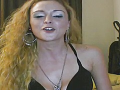 Blonde hottie crack whore double dicked